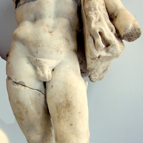 A Rare Statue of Hercules was exposed at Horvat Tarbenet in the Jezreel Valley