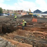 Excavation at Mexborough Glass Works