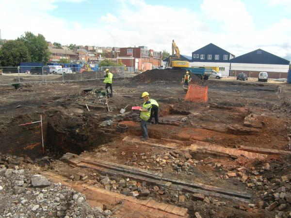 Mexborough glass factory site:  Image Wessex Archaeology