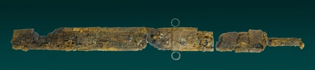 Roman Sword and Scarbard And Inscribed Menorah Found Intact In Drain