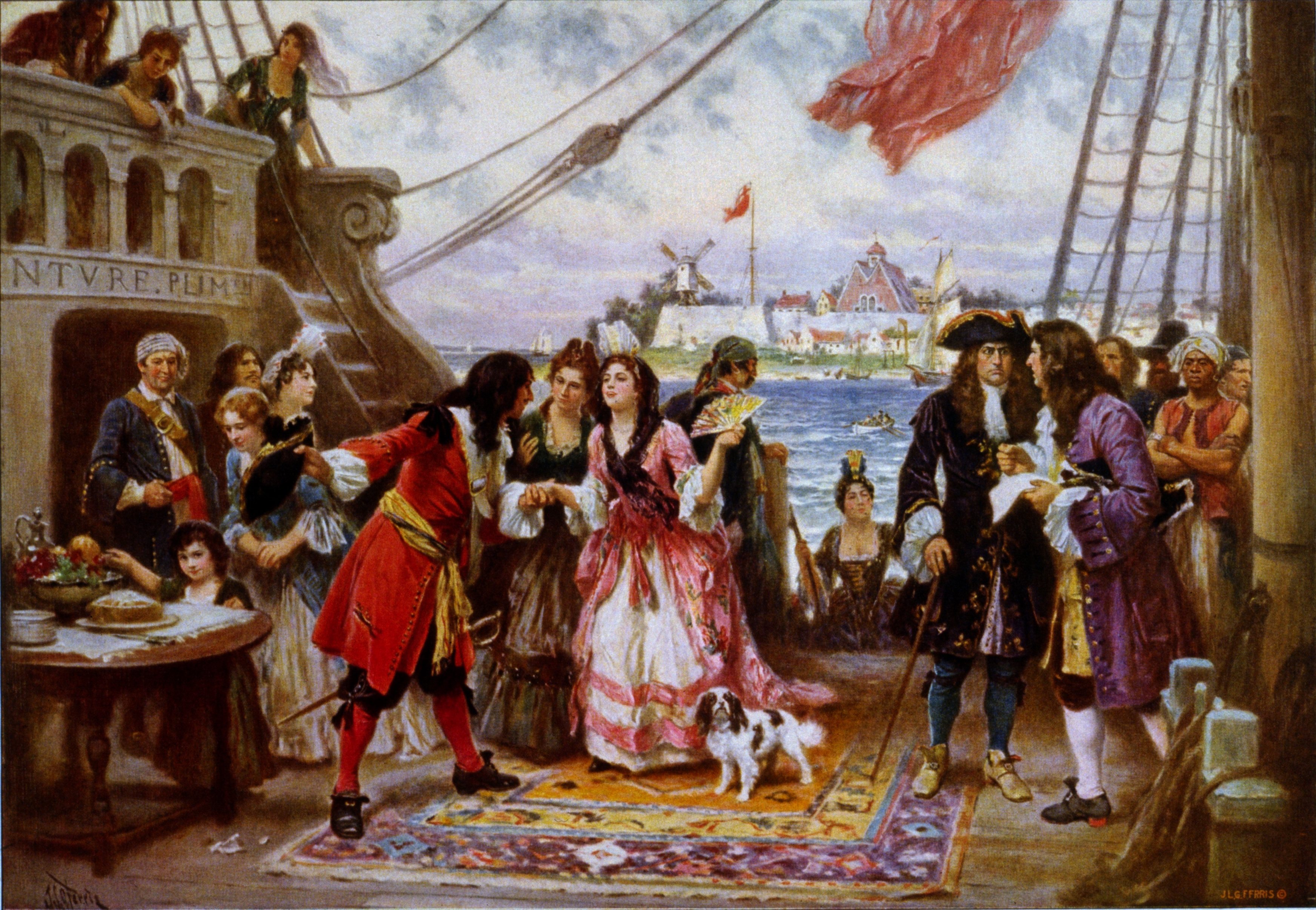 Captain Kidd in New York Harbor : Wiki Commons