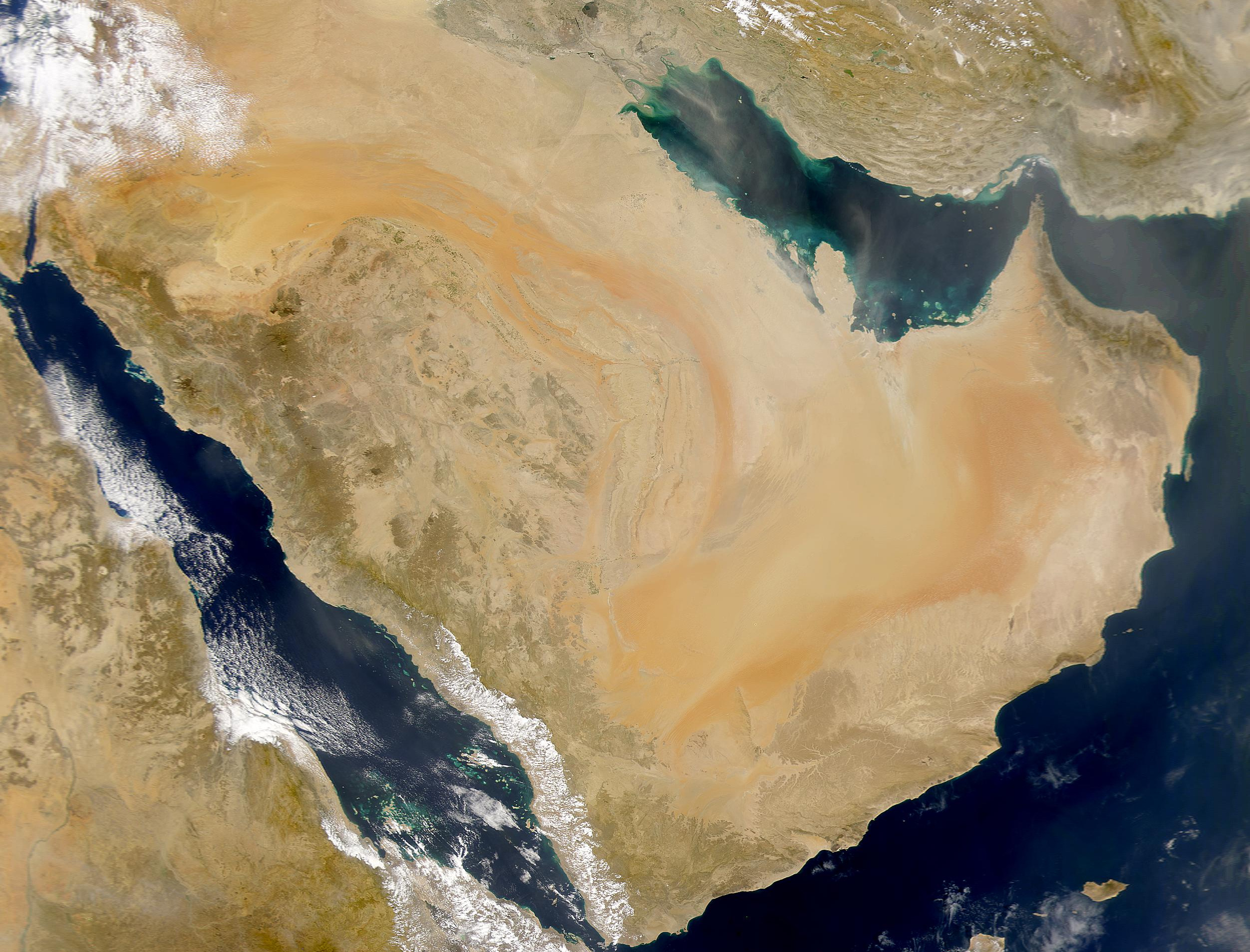 Satellite Image of the Arabian Peninsula : Wiki Commons