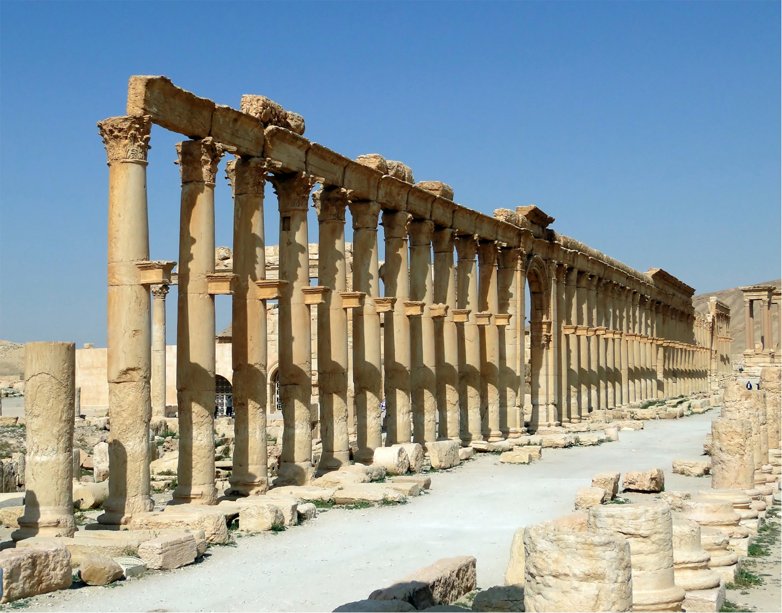 Palmyra's main street was one of the longest and most monumental in the eastern Roman Empire Wiki Commons