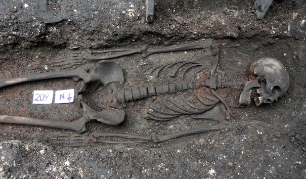 Human remains, excavated before construction of the new Broadgate Ticket Hall