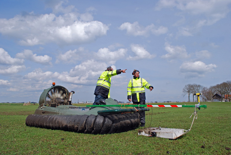 Hovercraft for archaeological site surveys