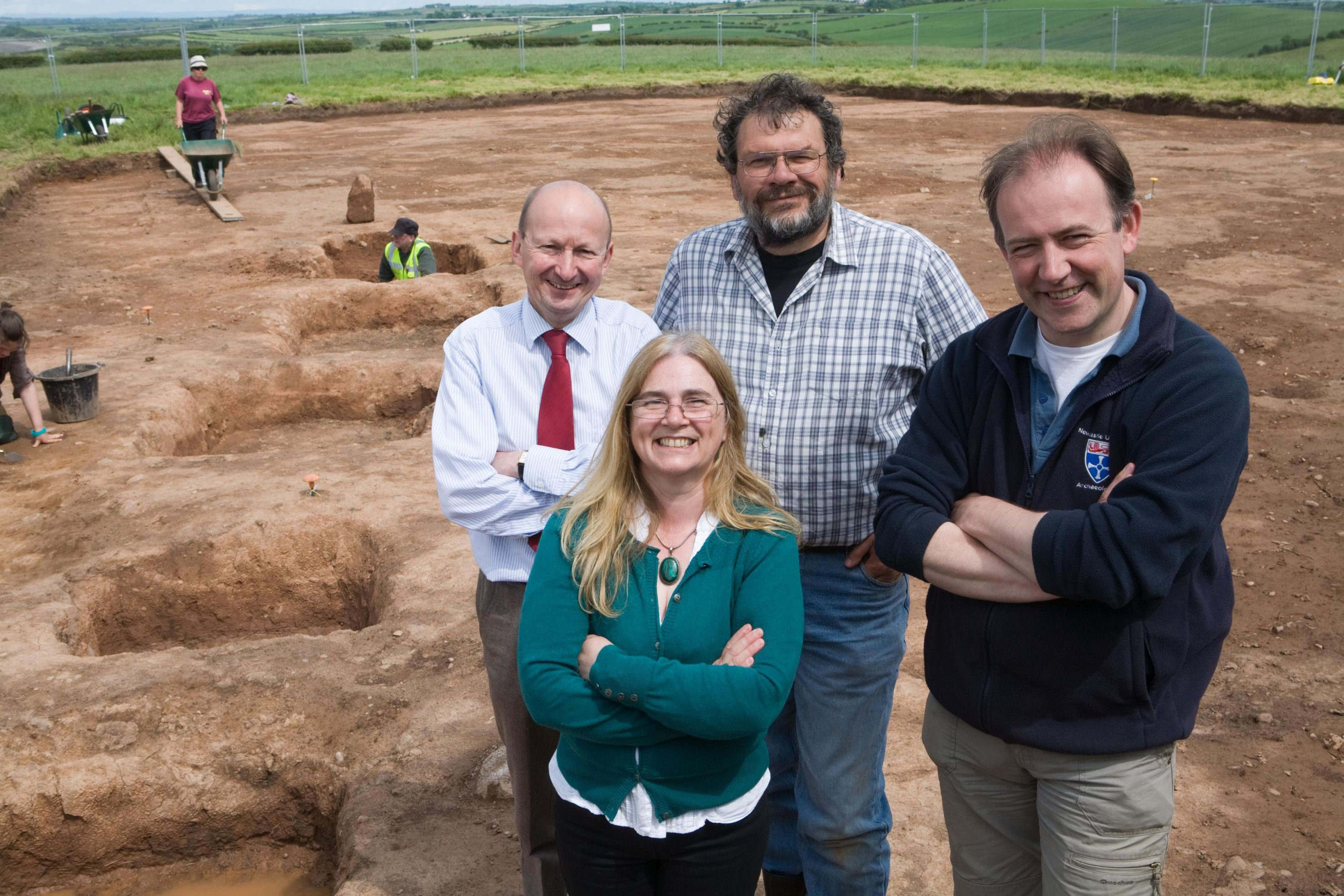 Early Christian graves have been found during an archaeological dig in Maryport, Cumbria.