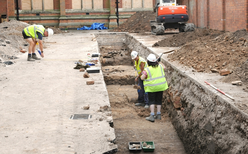 Victorian builders came within inches of destroying human remains