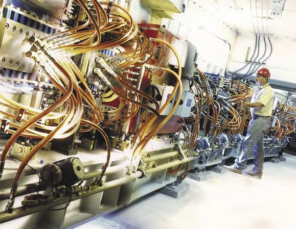 Inside the accelerator ring of the Stanford Synchrotron Radiation Lightsource. Wiki Commons