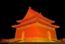 First images of laser scan of Chinese tombs