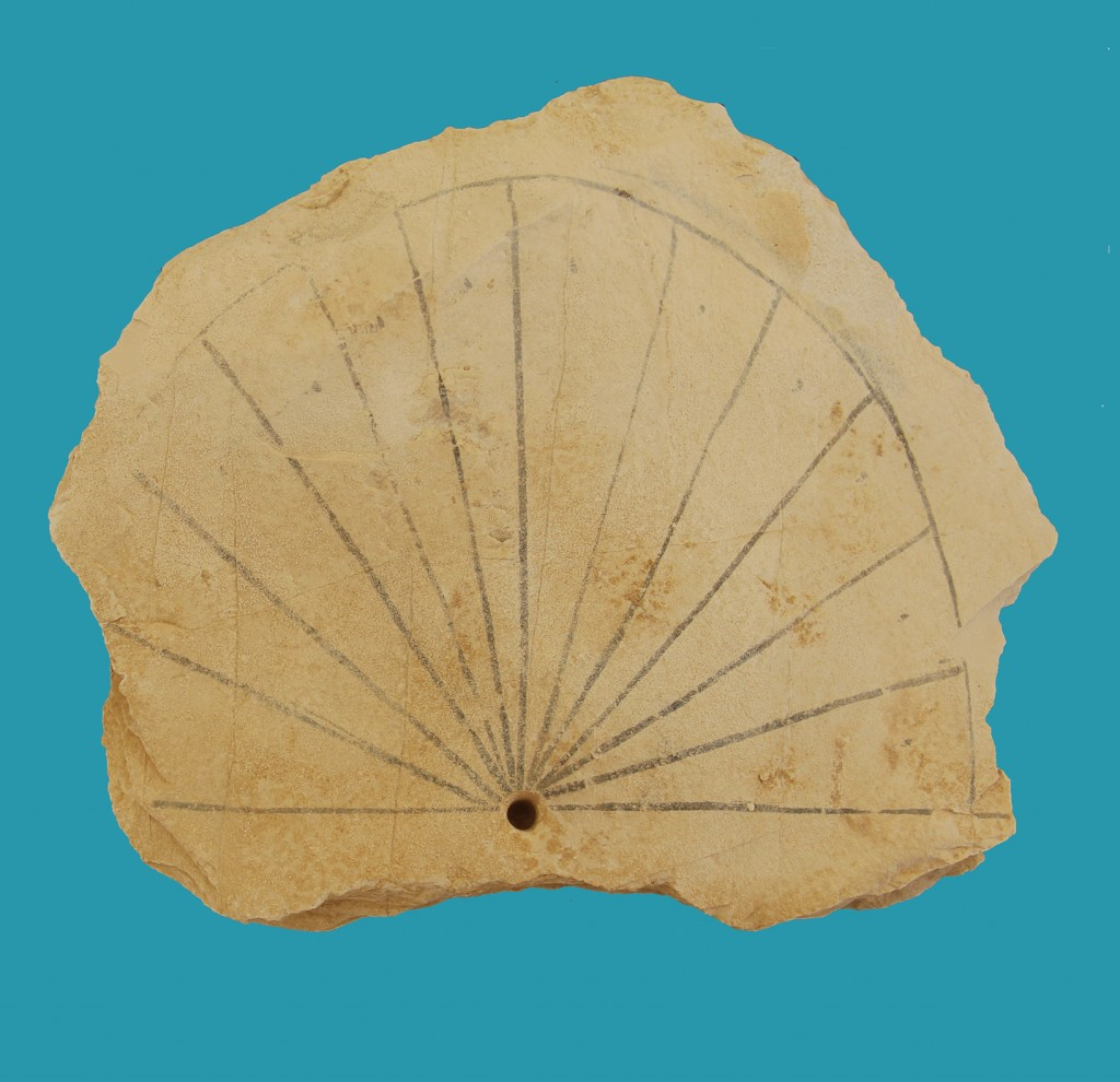 Ancient Egyptian sun dial, image: University of Basel