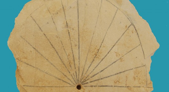 Significant find: After thousands of years the Egyptian sun dial was brought back to light (Image: University of Basel).