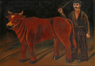 Nikolai Pirosmani-Shvili Farmer with a Bull