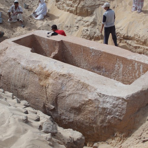 Giant Sarcophagus leads archaeologists to Tomb of a Previously Unknown Pharaoh