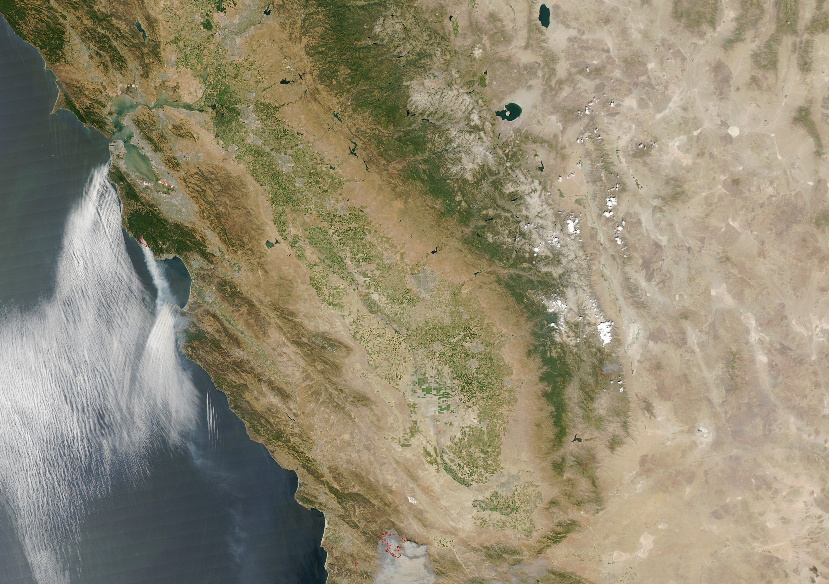 San Andreas Fault From Space San Francisco&#...