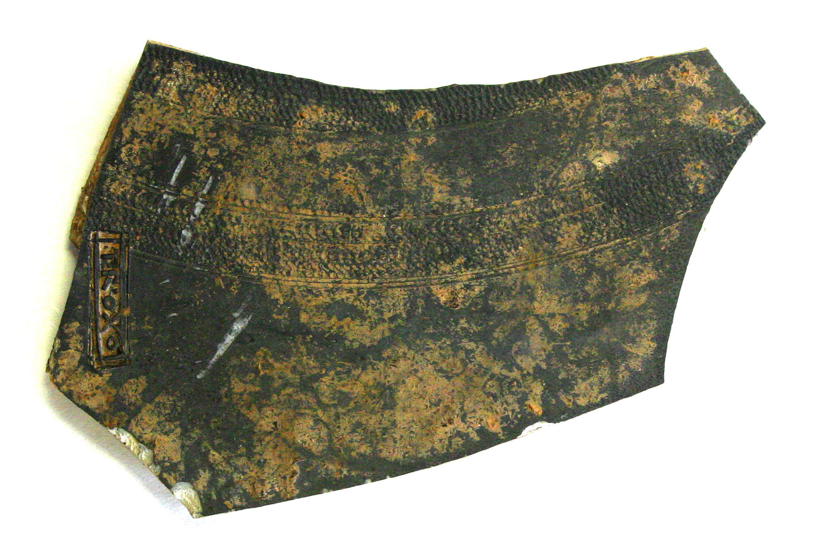 Decorated Roman pottery with makers mark from Blackfriars - Credit : Wardell Armstrong Archaeology