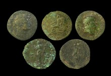 Roman coins and brooches unearthed at Blackfriars in Leicester