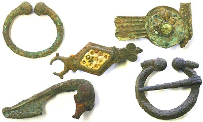 Roman and medieval brooches from Leicester - Credit : Wardell Armstrong Archaeology