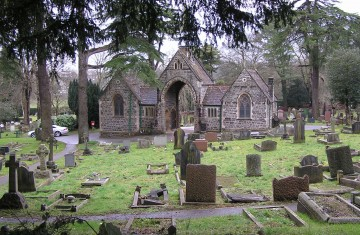Keynsham Cemetery, which is built over the Roman Villa. Credit : WikiPedia