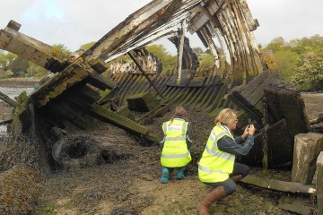 CITiZAN archaeologists recording 19th century - Credit : CITIZAN
