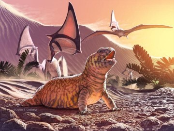 This is an illustration of Gueragama sulamerica, by Julius Csotonyi. Credit : Julius Csotonyi