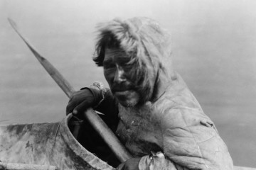 Inupiat in a kayak, Noatak, Alaska, c. 1929 (photo by Edward S. Curtis)