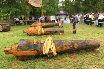 Three cannons recovered from the CSS Pee Dee include two Brooke rifles and one Dahlgren smoothbore - Credit : Peggy Binette, University of South Carolina