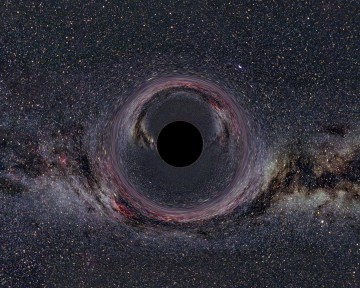 The black hole in the Milky Way is shown. CREDIT : Ute Kraus, Universität Hildesheim