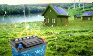 PNNL's improved aqueous zinc-manganese oxide battery offers a cost-effective, environmentally friendly alternative for storing renewable energy and supporting the power grid. CREDIT Pacific Northwest National Laboratory