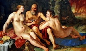 Lot and his daughters, by Hendrick Goltzius, 1616. Dennis Jarvis/flickr, CC BY-SA