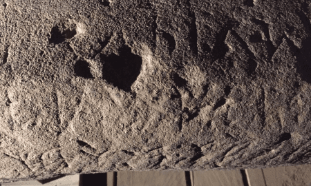 Inscribed surfaces of the stele already have revealed mention of the goddess Uni as well as a reference to the god Tina, the name of the supreme deity of the Etruscans. CREDIT (Credit: Mugello Valley Project)