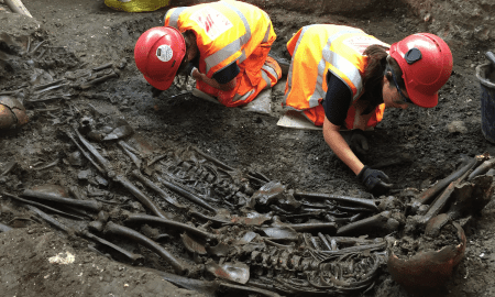 Mass burial uncovered at Crossrail Liverpool Street