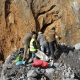 Excavating at the Artazu VII site located in the Kobate Quarry in Arrasate (Gipuzkoa, Basque Country). CREDIT EPV/EHU