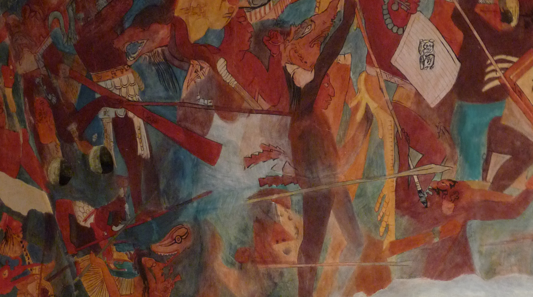 The discovery of the bonampak murals representing war for El mural de bonampak