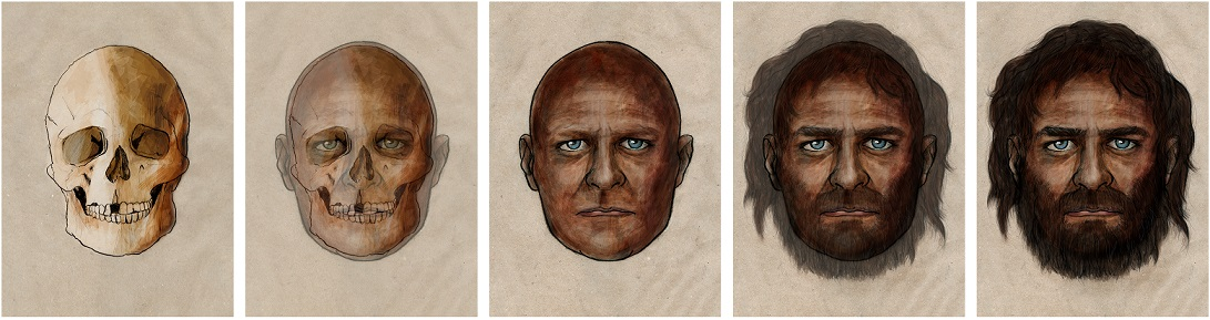 La Braña 1, the name used to baptize a 7,000-year-old individual from the Mesolithic Period, had blue eyes and dark skin. Credit: PELOPANTON / CSIC