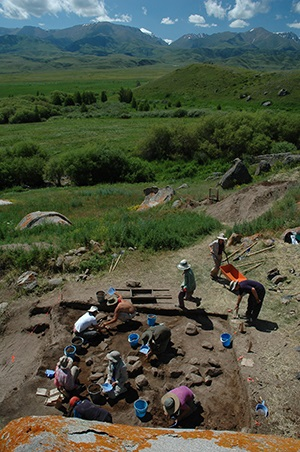 Photo credit: Michael Frachetti (2011) Archaeological excavations at the site of Tasbas, Kazakhstan.