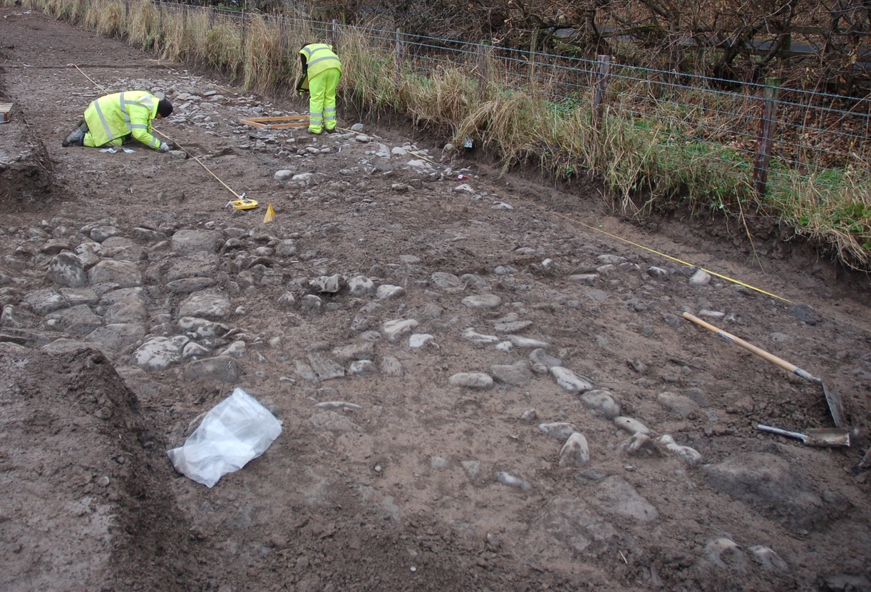 Archaeological excavation of the medieval remains at Philiphaugh © GUARD Archaeology Ltd