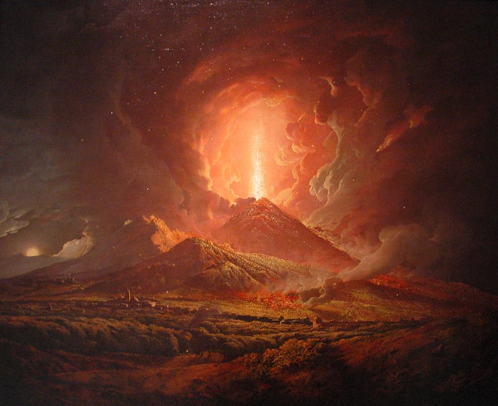 Artist representation of Mount Vesuvius: WikiPedia