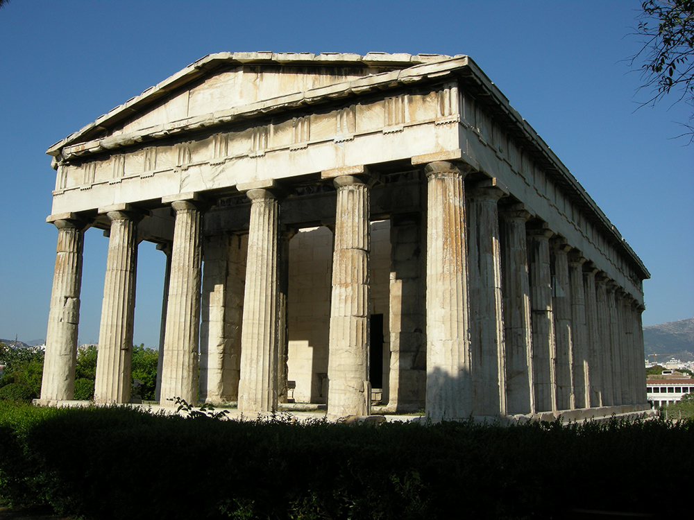 Temple of Hephaestus: Wikimedia