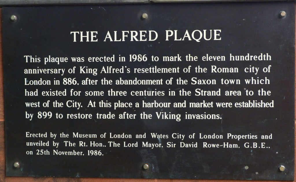 Plaque in the City noting the restoration of the city by Alfred. : WikiPedia