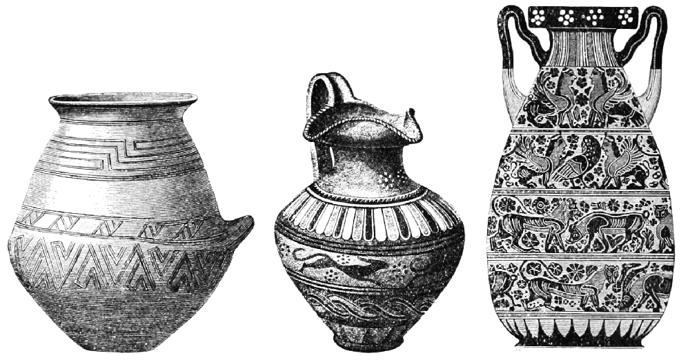 Examples of Etruscan vessels