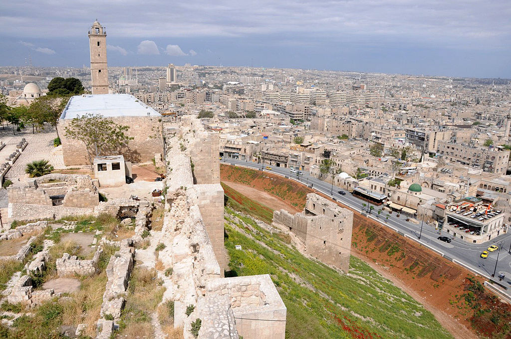 Ancient Aleppo from the citadel: Wikimedia