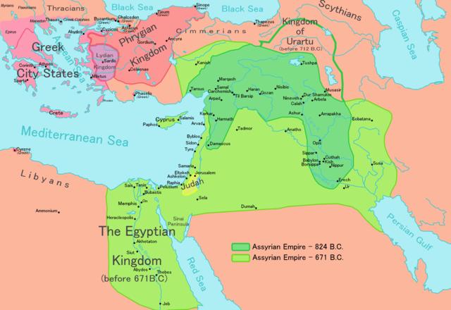 Map of Assyria: Wikimedia