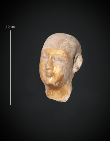 Small statue head - Credit : CNRS (Délégation Paris Michel-Ange)