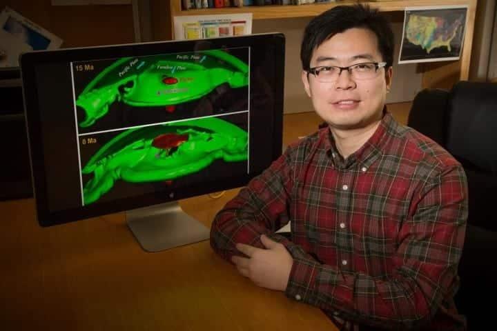 University of Illinois geology professor Lijun Liu used computer simulations to study the origins of the Yellowstone supervolcano. CREDIT : Photo by L. Brian Stauffer