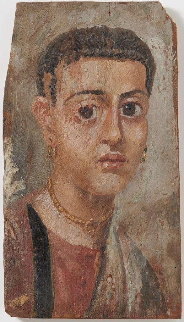 Mummy portrait of a young woman.  (Frank Tomio; University of Zurich)