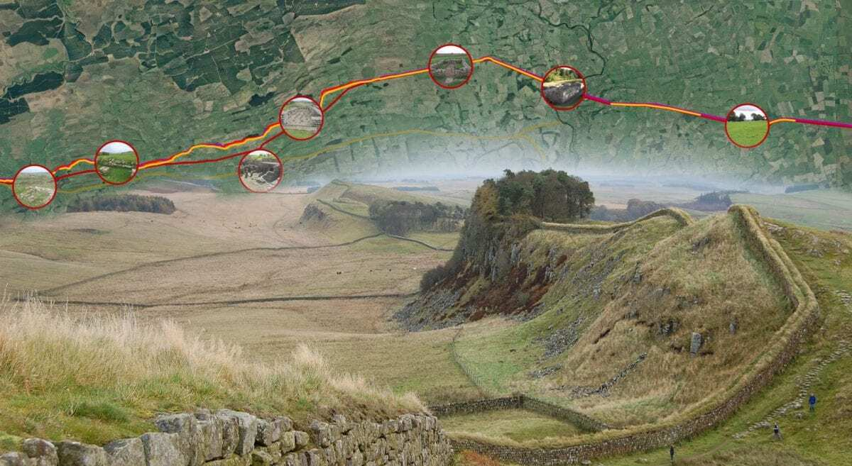 Roman Forts of Hadrian's Wall – Interactive Map - HeritageDaily - Heritage & Archaeology News