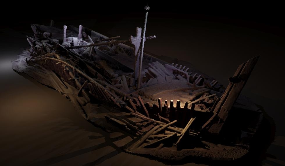 Photogrammetric model of a wreck from Ottoman period. Credit: Rodrigo Pacheco-Ruiz.