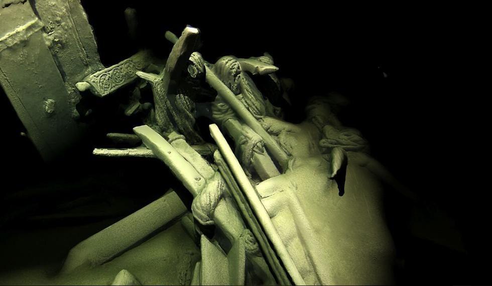 Photogrammetric model of stern of Ottoman wreck. Credit: Rodrigo Pacheco Ruiz and Rodrigo Ortiz.