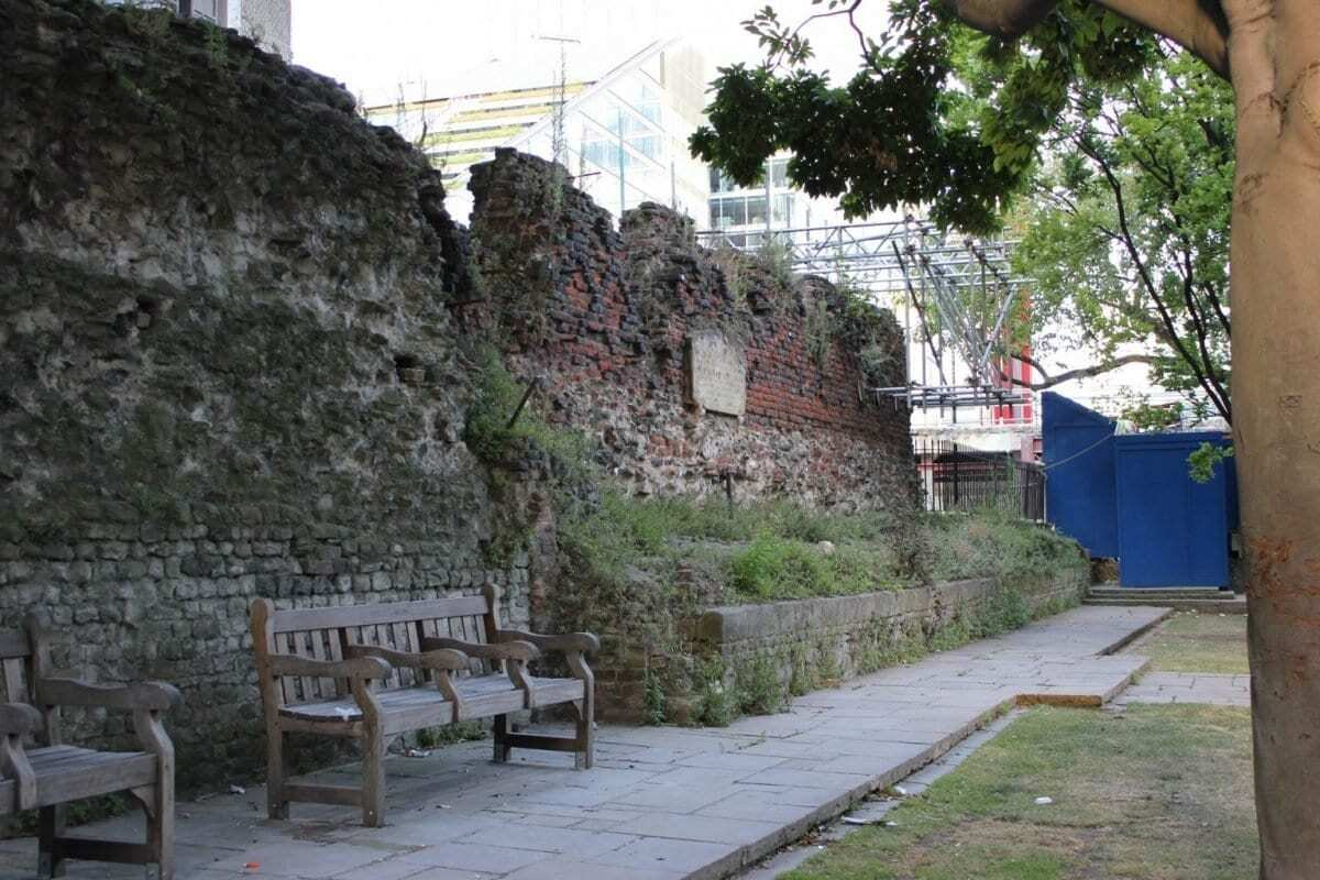 Roman London Wall St Alphage - Image Credit Markus Milligan