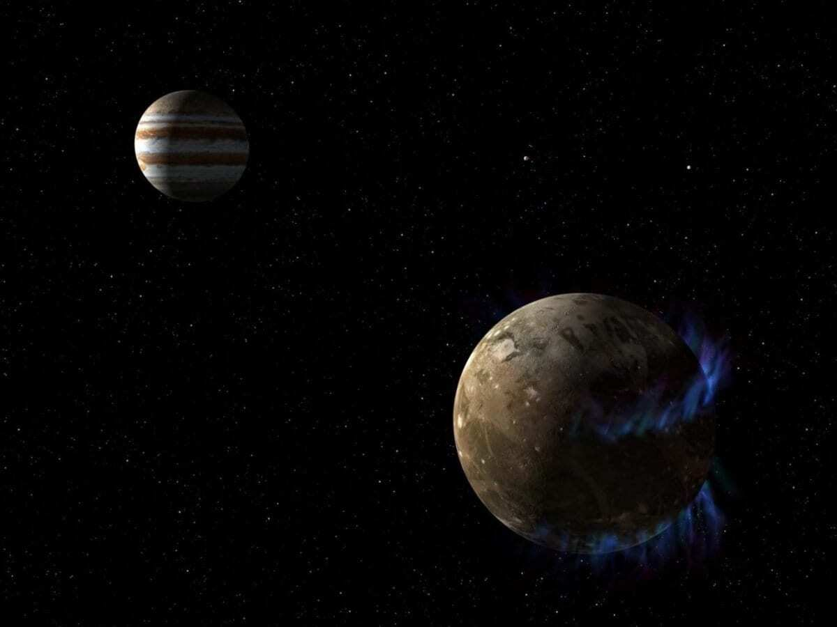 Jupiter's Moon Ganymede Gets Plasma Rain, Shaping Its Unique Magnetosphere